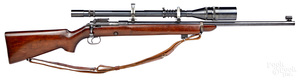 Winchester model 52B heavy bolt action rifle