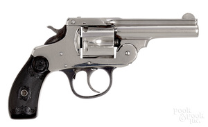 Iver Johnson nickel plated double action revolver