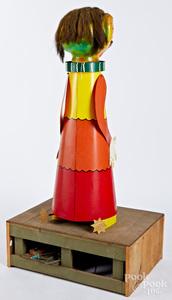 Tin & papier-mâché animated amusement park figure