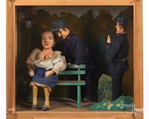 Electric animated risqué diorama