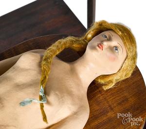 Coney Island Magician elevating lady automaton