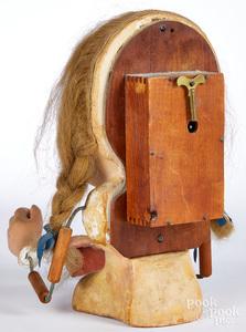 Painted composition clockwork trade stimulator