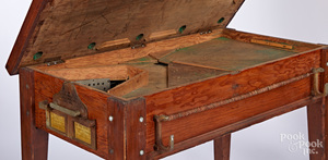 Alamo Novelty Co. small coin operated pool table