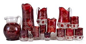 EAPG Atlantic City ruby flash souvenir glass