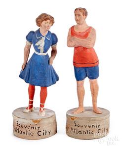 Two early Atlantic City souvenir figures