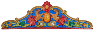 Carved and painted carousel rounding board
