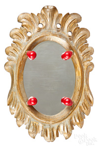 Giltwood carnival carousal mirror
