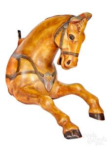 Carnival or carousel aluminum figural horse head