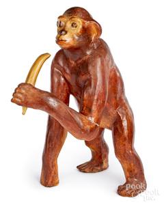 Amusement Park figural monkey display