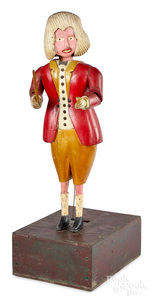 Carved and painted conductor automaton, ca. 1900