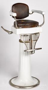 Koken porcelain child's barber chair