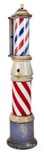 Koch Barber Supply sidewalk barber pole