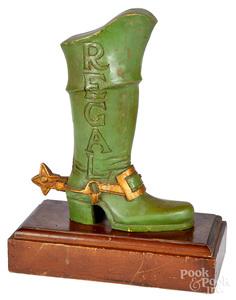 Regal boot figural counter top display