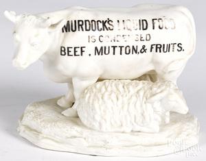 Murdock's Liquid Food porcelain store display