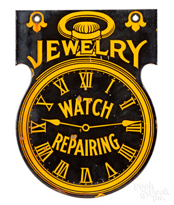 Jewelry Watch Repairing enameled trade sign