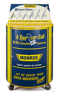 Monroe Shock absorbers tin lithograph cabinet