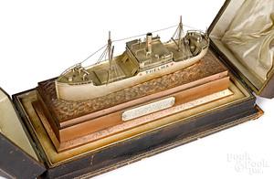 John Wanamaker presentation Thelma ship model