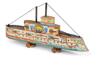 Converse Battleship Oregon pull toy
