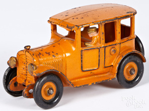 Hubley yellow cab with integral driver