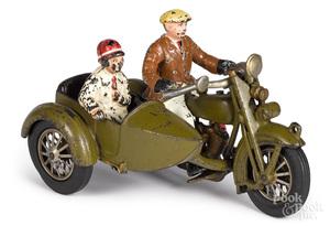 Hubley cast iron Harley Davidson motorcycle