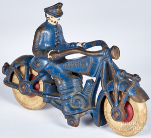 Champion cast iron police motorcycle