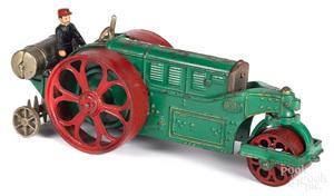 Hubley cast iron 'Huber' road roller