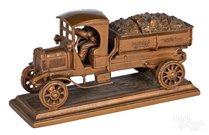 Ronson Master Trucks coal delivery truck inkwell