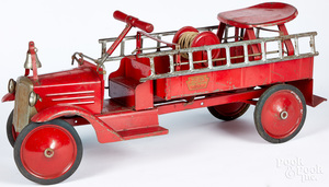Keystone pressed steel Ride-em Fire Truck