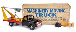 Marx tin lithograph machinery moving truck
