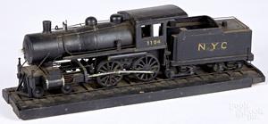 N. Y. C. #1104 folk art train model locomotive