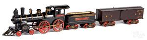 Ives cast iron three-piece floor train