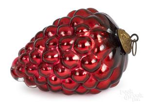 German red Kugel grape cluster Christmas ornament