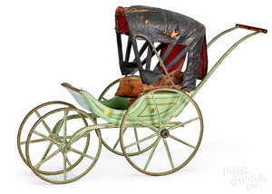 Early painted doll carriage