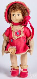 Lenci felt doll with bonnet