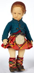 Lenci Scottish boy felt doll
