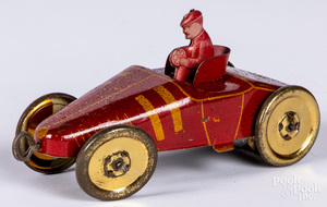 Mohawk tin lithograph wind-up race car