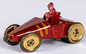 Mohawk tin lithograph wind-up race car