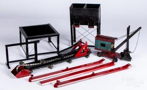 Structo pressed steel steam shovel, etc.