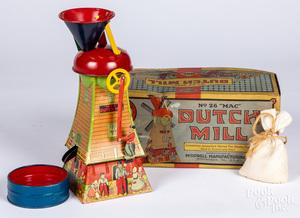 MAC Toys Dutch Mill tin lithograph sand toy