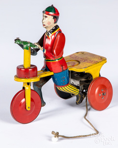 B & R Kid Special tin lithograph wind-up scooter