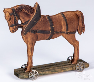 Advertising horse pull toy