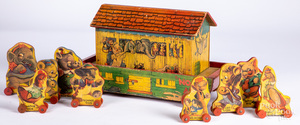 Gong Bell Mfg. Co. Noah's Ark pull toy