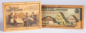 Two sets of Richter building blocks