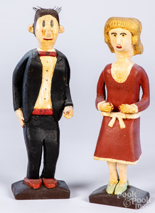 Contemporary figures of Dagwood and Blondie