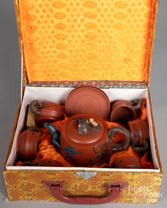 Chinese Yixing tea service
