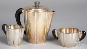 800 silver three-piece tea service