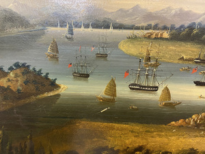 Large China Trade oil on canvas