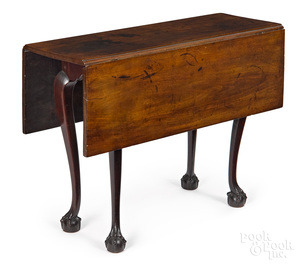 Chippendale mahogany diminutive drop-leaf table