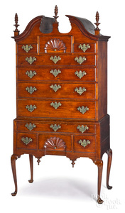 Diminutive Queen Anne walnut high chest