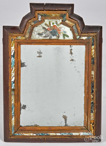 Stained pine courting mirror